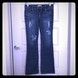 Forever 21 distressed bootcut jeans